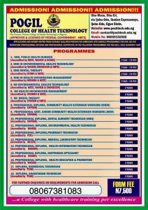 POGIL College of Health Technology Admission Form 2021