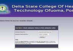 Delta College of Health Technology Ofuoma 2020/2021 Admission Form is Out