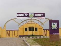Mountain Top University (MTU) Post UTME and DE Screening Form 2020/2021 is Out